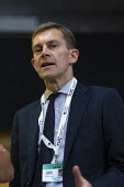 Seumas Milne talking to journalists, TUC Conference, Brighton, 2019 - John Harris - 2010s,2019,ADVICE,ADVISE,ADVISER,advisers,advisor,advisors,communicating,communication,Conference,conferences,conversation,conversations,dialogue,discourse,discuss,discusses,discussing,discussion,JOUR