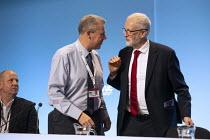 Jeremy Corbyn MP speaking TUC Conference, Brighton, 2019 - John Harris - 2010s,2019,Conference,conferences,Jeremy Corbyn,Labour Party,Mark Serwotka,member,member members,members,MP,MPs,PCS,POL,political,politician,politicians,Politics,SPEAKER,SPEAKERS,speaking,SPEECH,Trade