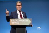 Keir Starmer MP speaking, TUC Conference, Brighton, 2019 - John Harris - 13-09-2019