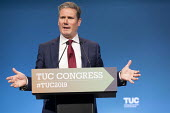Keir Starmer MP speaking, TUC Conference, Brighton, 2019 - John Harris - 2010s,2019,Conference,conferences,Keir Starmer,Labour Party,member,member members,members,MP,MPs,POL,political,politician,politicians,Politics,SPEAKER,SPEAKERS,speaking,SPEECH,Trade Union,Trade Union,