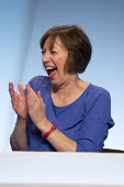 Frances O'Grady laughing, TUC Conference, Brighton, 2019 - John Harris - 2010s,2019,Conference,conferences,FEMALE,Frances O'Grady,funny,Gen Sec,Humor,HUMOROUS,HUMOUR,joking,LAUGH,laughing,LAUGHTER,member,member members,members,O grady,O'Grady,people,person,persons,Trade Un
