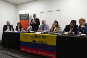 Justice for Colombia fringe meeting fringe meeting, TUC Conference, Brighton, 2019 - John Harris - 2010s,2019,Colombia,Conference,conferences,meeting,MEETINGS,trade union,trade unions,trades union,trades unions,TUC,TUC Congress