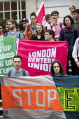 London Renters Union and Sisters Uncut protest at Hackney Town Hall against the treatment of housing activists in Marian Court, a controversial redevelopment, East London - Jess Hurd - 2010s,2019,accommodation,activist,activists,against,anti,Austerity Cuts,banner,banners,campaigner,campaigners,CAMPAIGNING,CAMPAIGNS,council housing,council housing,Court,DEMONSTRATING,demonstration,de