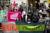London Renters Union and Sisters Uncut protest at Hackney Town Hall against the treatment of housing activists in Marian Court, a controversial redevelopment, East London - Jess Hurd - 16-09-2019