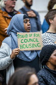 London Renters Union and Sisters Uncut protest at Hackney Town Hall against the treatment of housing activists in Marian Court, a controversial redevelopment, East London - Jess Hurd - 2010s,2019,accommodation,activist,activists,against,anti,Austerity Cuts,BAME,BAMEs,Black,BME,bmes,campaigner,campaigners,CAMPAIGNING,CAMPAIGNS,council housing,council housing,Court,DEMONSTRATING,demon