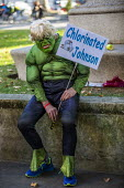 Protest against the proroguing Parliament as it is challenged in the Supreme Court, Westminster, London. Boris Johnson as The Incredible Hulk - Jess Hurd - 17-09-2019