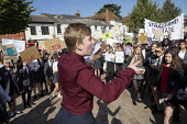 School pupils Global Climate Strike protest, Stratford-upon-Avon, Warwickshire - John Harris - 20-09-2019