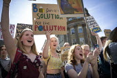 School pupils Global Strike Against Climate Change protest, Newcastle Upon Tyne - Mark Pinder - 20-09-2019