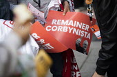 Remainer Corbynista posters Labour Party Conference, Brighton, 2019 - Jess Hurd - 2010s,2019,brexit,Brighton,Conference,conferences,Corbynista,EU,European Union,Jeremy Corbyn,Labour Party Conference,Party,POL,political,POLITICIAN,POLITICIANS,Politics,POSTER,posters,remain,Remainer,
