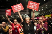 Reform and Remain delegates, Labour Party Conference, Brighton, 2019 - Jess Hurd - 2010s,2019,Brexit,Brighton,Conference,conferences,delegate,delegates,EU,European Union,FEMALE,Labour Party Conference,Party,people,person,persons,placard,placards,POL,political,POLITICIAN,POLITICIANS,