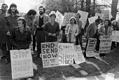 Protest against Short Sharp Shock regime for youth, Send Detention Centre, near Woking, Surrey, 1980 - Martin Mayer - 1980,1980s,activist,activists,against,CAMPAIGNING,CAMPAIGNS,Criminal Justice System,DEMONSTRATING,Demonstration,Detention,Detention Centre,jail,jails,penal system,penitentiary,people,person,persons,pl