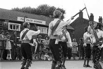 Morris dancers outside The Pack Horse Inn, Oldham, 1973 near Manchester - NLA - 05-08-1973