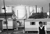 Caravan park, caravan park and LNG storage tanks, 1974, Thorney Bay, Canvey Island, Thames Estuary - NLA - 03-06-1974