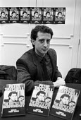 Peter Tatchell 1983 with his book Battle for Bermondsey, press launch, London - NLA - 1980s,1983,author,authors,Battle for Bermondsey,book,book signing,books,equal,Gay,gay rights,Gays,Homosexual,HOMOSEXUALITY,Homosexuals,Labour Party,launch,LGBT,London,MINORITIES,MINORITY,Peter Tatchel