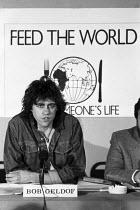 Bob Geldof Live Aid concert press conference, London 1985 - NLA - 10-06-1985