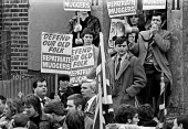 Martin Webster (L), Andrew Brons (hand in pocket) National Front march, Peckham, London 1980 - Ray Rising - 1980,1980s,activist,activists,against,Andrew Brons,CAMPAIGNING,CAMPAIGNS,cities,City,DEMONSTRATING,Demonstration,Far Right,Far Right,fascism,Fascist,Fascists,London,Martin Webster,National Front,NF,pl