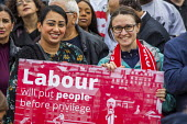 Big Canvass with Jeremy Corbyn and Faiza Shaheen, PPC, Chingford and Woodford Green, Iain Duncan Smith constituency. London. - Jess Hurd - 28-09-2019