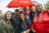 Labour councillors join Big Canvass with Jeremy Corbyn and Faiza Shaheen, PPC, Chingford and Woodford Green, Iain Duncan Smith constituency. London. - Jess Hurd - 28-09-2019