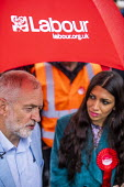 Big Canvass with Jeremy Corbyn and Faiza Shaheen, PPC, Chingford and Woodford Green, Iain Duncan Smith constituency. London. - Jess Hurd - 2010s,2019,BAME,BAMEs,Big Canvass,Black,Black and White,BME,bmes,campaign,campaigning,CAMPAIGNS,CANVASING,canvassing,Chingford and Woodford Green,Chingford Mount,constituency,DEMOCRACY,diversity,elect