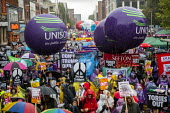 End Austerity Now, Protest the Tory Party Conference, Manchester, 2019 - Jess Hurd - peace movement, People's Assembly Against Austerity,2010s,2019,activist,activists,against,Austerity,balloon,balloons,banner,banners,Campaign for nuclear disarmament,CAMPAIGNING,CAMPAIGNS,CND,CND Symbo