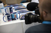 Boris Brexit mugs, Conservative Party Conference, Manchester, 2019 - Jess Hurd - 2010s,2019,Boris,Boris Johnson,brand,branding,Brexit,camera,cameraman,cameras,communicating,communication,Conference,conferences,Conservative,Conservative Party,Conservative Party Conference,conservat