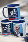 Boris Brexit mugs, Conservative Party Conference, Manchester, 2019 - Jess Hurd - 2010s,2019,Boris,Boris Johnson,brand,branding,Brexit,Conference,conferences,Conservative,Conservative Party,Conservative Party Conference,conservatives,EU,European Union,Get Brexit Done,Manchester,MP,