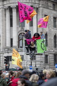 Extinction Rebellion protest against lack of Government action on climate change. Nonviolent direct action shutting down central London. - Jess Hurd - 07-10-2019