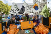 Extinction Rebellion protest against lack of Government action on climate change. Nonviolent direct action shutting down central London. - Jess Hurd - 09-10-2019