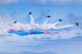 RAF Red Arrows Display Team performing, Torbay Airshow 2017 - Paul Box - 03-05-2017