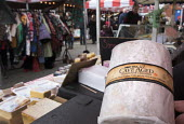 Wookey Hole Cave Aged Cheddar cheese, food stall, Tobacco factory Market, Bristol - Paul Box - 20-03-2016