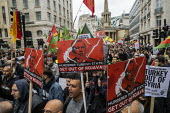 Stop the Turkish Invasion of Rojava protest, London. Kurdistan Solidarity Campaign Rise up for Rojava rally against against the war on Kurds in Syria - Jess Hurd - 13-10-2019