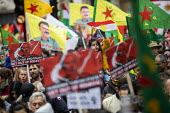 Stop the Turkish Invasion of Rojava protest, London. Kurdistan Solidarity Campaign Rise up for Rojava rally against against the war on Kurds in Syria - Jess Hurd - 2010s,2019,activist,activists,against,anti war,Antiwar,BAME,BAMEs,BME,bmes,campaign,campaigning,CAMPAIGNS,DEMONSTRATING,demonstration,diversity,ethnic,ethnicity,flag,flags,KSC,kurd,kurdish,Kurdistan,K
