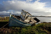 Derelict fishing boat, Connemara, Ireland. EU Common Fisheries Policy has led to the contraction of the Irish fishing industry - David Mansell - 05-10-2012