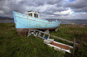 Derelict fishing boat, Connemara, Ireland. EU Common Fisheries Policy has led to the contraction of the Irish fishing industry - David Mansell - 23-09-2012