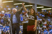 Detroit, Michigan, USA: Bernie Sanders, Rashida Tlaib, Presedential campaign rally 2020 - Jim West - 2010s,2019,2020 election,America,BAME,BAMEs,Bernie,Bernie Sanders,Black,BME,bmes,campaign,campaigning,CAMPAIGNS,candidate,candidates,democracy,Democrat,Democratic Party,Democrats,Detroit,diversity,ele