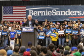 Detroit, USA: Bernie Sanders Presedential campaign rally 2020 - Jim West - 2010s,2019,2020 election,America,Bernie,Bernie Sanders,campaign,campaigning,CAMPAIGNS,candidate,candidates,democracy,Democrat,Democratic Party,Democrats,Detroit,election,ELECTIONS,government,Michigan,