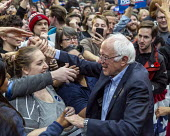 Detroit, USA: Bernie Sanders Presedential campaign rally 2020 - Jim West - 2010s,2019,2020 election,America,Bernie,Bernie Sanders,campaign,campaigning,CAMPAIGNS,candidate,candidates,democracy,Democrat,Democratic Party,Democrats,Detroit,election,ELECTIONS,government,greeting,