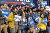 Detroit, USA: Bernie Sanders Presedential campaign rally 2020 - Jim West - 2010s,2019,2020 election,African American,African Americans,America,BAME,BAMEs,Bernie,Bernie Sanders,black,BME,bmes,campaign,campaigning,CAMPAIGNS,candidate,candidates,democracy,Democrat,Democratic Pa