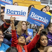 Detroit, USA: Bernie Sanders Presedential campaign rally 2020 - Jim West - 2010s,2019,2020 election,African American,African Americans,African-American,America,BAME,BAMEs,Bernie,Bernie Sanders,black,BME,bmes,boy,BOYS,campaign,campaigning,CAMPAIGNS,candidate,candidates,child,