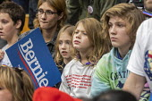 Detroit, USA: Bernie Sanders Presedential campaign rally 2020 - Jim West - 2010s,2019,2020 election,America,Bernie,Bernie Sanders,campaign,campaigning,CAMPAIGNS,candidate,candidates,child,CHILDHOOD,children,democracy,Democrat,Democratic Party,Democrats,Detroit,election,ELECT