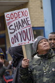 UVW pay and conditions strike, Sodexo, St. Mary's Hospital, London. Migrant cleaners, caterers and porters outsourced by Imperial College Healthcare NHS Trust to French multinational Sodexo, demanding... - Philip Wolmuth - 2010s,2019,BAME,BAMEs,Black,BME,bmes,CLEANER,cleaners,CLEANING,College,COLLEGES,contracted out,contractor,contractors,DISPUTE,disputes,diversity,EARNINGS,Equal Rights,equality,ethnic,ethnicity,foreign