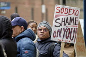 UVW pay and conditions strike, Sodexo, St. Mary's Hospital, London. Migrant cleaners, caterers and porters outsourced by Imperial College Healthcare NHS Trust to French multinational Sodexo, demanding... - Philip Wolmuth - 2010s,2019,BAME,BAMEs,Black,BME,bmes,CLEANER,cleaners,CLEANING,College,COLLEGES,contracted out,contractor,contractors,DISPUTE,disputes,diversity,EARNINGS,Equal Rights,equality,ethnic,ethnicity,FEMALE,