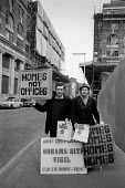 Protest at redevelopment of Covent Garden 1973. Odhams print works, Homes Not Offices. In the late 1960s the GLC drew up plans for the wholesale redevelopment of Covent Garden relocating local busines... - Martin Mayer - activist,activists,against,attraction,CAMPAIGNING,CAMPAIGNS,cities,City,Covent Garden,DEMONSTRATING,Demonstration,developer,developers,development,EBF,Economic,Economy,Garden,GARDENS,GLC,holiday,holid