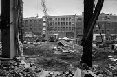 Demolition of Odhams print works, Covent Garden 1973. In the late 1960s the GLC drew up plans for the wholesale redevelopment of Covent Garden relocating local businesses and residents to make way for... - Martin Mayer - 1970s,1973,builder,builders,cities,City,Construction Industry,Covent Garden,crane,cranes,demolish,DEMOLISHED,demolishing,demolition,developer,developers,development,EBF,Economic,Economy,estate,ESTATES