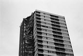 Ronan Point tower block collapse Canning Town, Newham, London 1968. Council tower block collapsed after a gas explosion blew out some load-bearing walls, causing the collapse of one entire corner of t... - NLA - 1960s,1968,accident,accidental,accidents,block,blocks,building,buildings,Canning Town,cities,City,collapse,collapsed,concrete,Council,council housing,council housing,danger,dangerous,dangers,destroyed