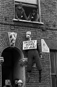Squatters occupying a terraced house, Kennington 1976 which Lambeth council plan to pull down - NLA - 10-12-1976