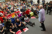 Jeremy Corbyn speaking Labour Party Election Campaign Rally Gloucester - John Harris - 2010s,2019,audience,AUDIENCES,campaign,campaigning,CAMPAIGNS,DEMOCRACY,Election,elections,General Election,Jeremy Corbyn,Labour Party,MP,MPs,Party,POL,political,politician,politicians,Politics,rallies