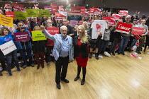 Jeremy Corbyn, Mhairi Threlfall PPC Labour Party Election Campaign Rally, Filton, Bristol - John Harris - 02-11-2019