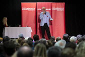 Jeremy Corbyn speaking Labour Party Election Campaign Rally, Filton, Bristol - John Harris - 2010s,2019,campaign,campaigning,CAMPAIGNS,DEMOCRACY,Election,elections,General Election,Jeremy Corbyn,Labour Party,MP,MPs,Party,POL,political,politician,politicians,Politics,rallies,Rally,SPEAKER,SPEA