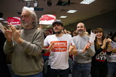 Jeremy Corbyn speaking Labour Party Election Campaign Rally, Filton, Bristol - John Harris - 2010s,2019,audience,AUDIENCES,campaign,campaigning,CAMPAIGNS,DEMOCRACY,Election,elections,flat cap,General Election,hat,Jeremy Corbyn,Labour Party,MP,MPs,Party,POL,political,politician,politicians,Pol